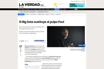 El Big Data sustituye al pulpo Paul