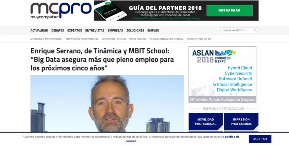 Enrique Serrano, from Tinámica and MBIT School: