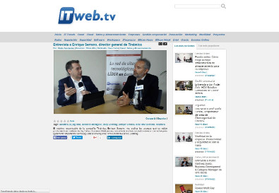 Interview to Enrique Serrano in ITweb.tv