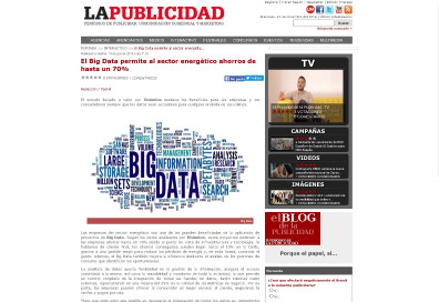 Big Data allows the energy sector saving up to 70%